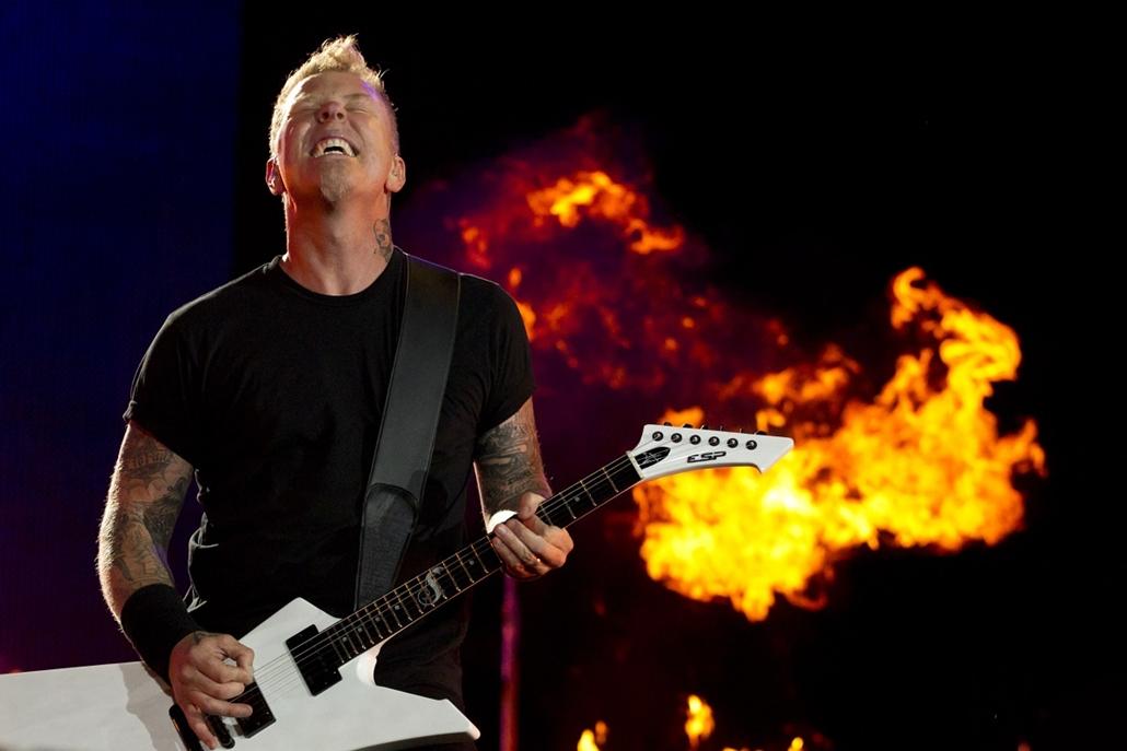 James Hetfield, a Metallica frontembere a ''Rock in Rio'' zenei fesztiválon Brazíliában.