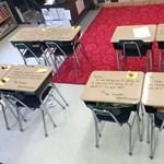 Padokra írt üzenetekkel és sütivel bátorította a diákjait a tanárnő dolgozatírás előtt