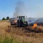 Videó: ezért ne dobjuk el a csikket – traktorral kellett elvágni a tűz útját