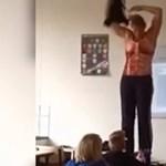 Levetkőzött a diákok előtt a tanárnő - és ami azután jött, az mindenkit meglepett