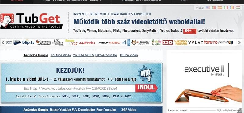Magyarul is elérhető a TubGet videoletöltő oldal
