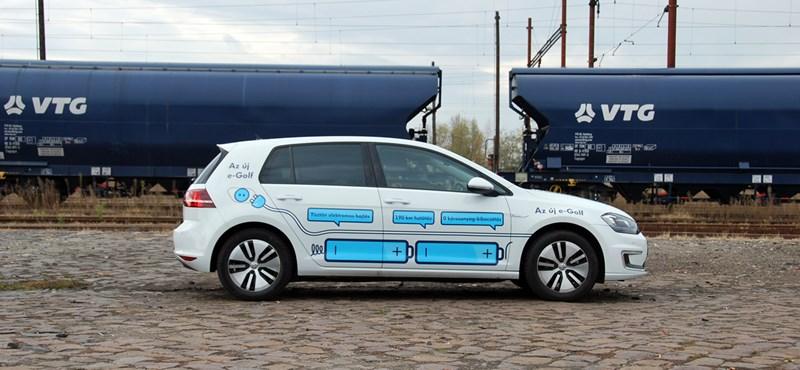 Népautó – aranyáron: Volkswagen e-Golf teszt