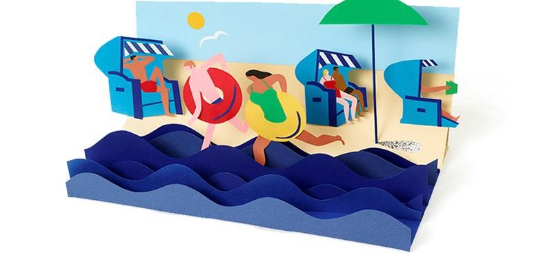 Miért van most ez a tengerpartos rajz a Google főoldalán? És ki az a Wilhelm Bartelmann?