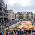 Óriási színorgiát rendeztek Brüsszel főterén – fotók