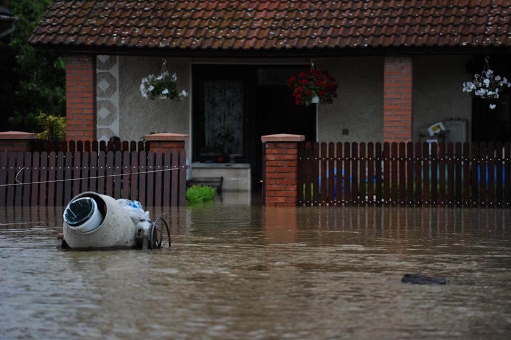 árvíz áradás nagyítás