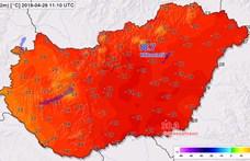 A Dél-Alföldön már 30,8 fok volt, meg is dőlt a melegrekord