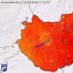 A Dél-Alföldön már 30,9 fok volt, meg is dőlt a melegrekord