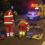 Fotó: Így látták el a mentők a súlyos sérült motorost