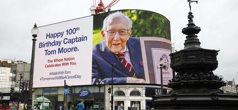 Koronavírus-fertőzéssel került kórházba a 100 éves Tom Moore, aki milliárdokat gyűjtött a brit egészségügynek