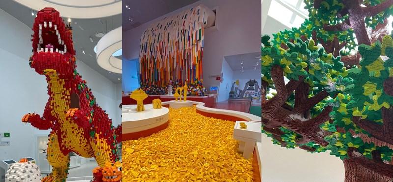 Az év kérdése: milyen lehet belevetni magad egy halom sárga Lego-kockába?
