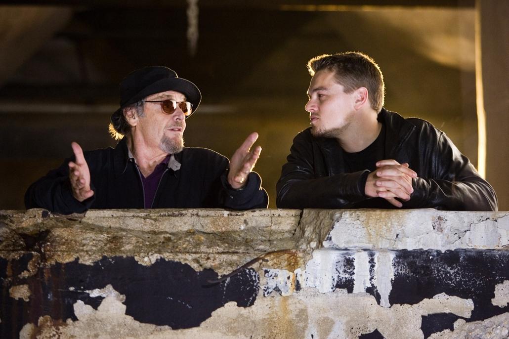 afp.2006. - Jack Nicholson és Leonardo DiCaprio A tégla című film egyik jelenetében. - Jack Nicholson nagyítás
