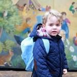 Nézegessen képeket György hercegről, aki egyre cukibb, ráadásul bölcsődés lett