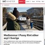 Svédországban kért menedékjogot a Pussy Riot két tagja