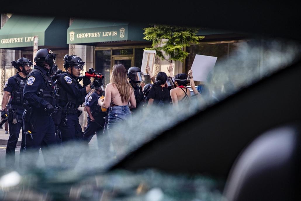 Nagyítás - afp.20.05.31. George Floyd tüntetés