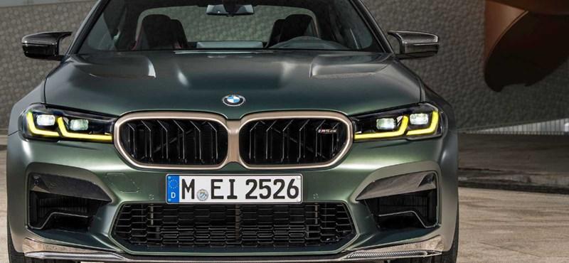 Itt a méregdrága BMW M5 CS, a gyártó eddigi legerősebb közúti modellje