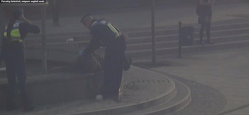 Percekig néztek tétlenül egy fuldokló hajléktalant Miskolcon