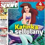 Hosszú Katinka a sellő: az évszázad címlapjával jött ki a Nemzeti Sport