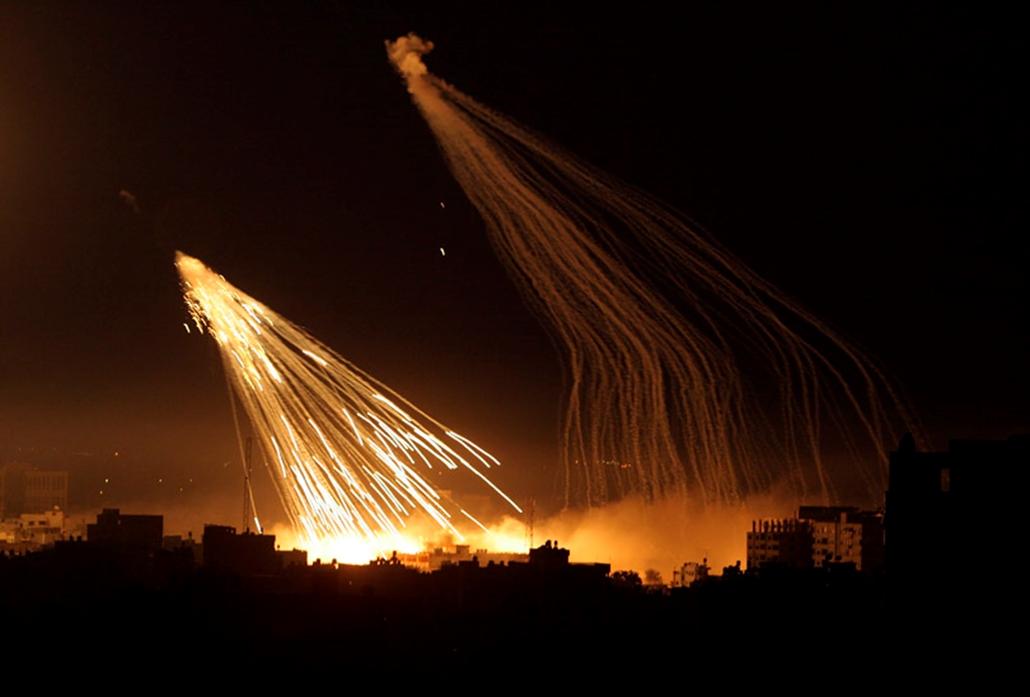 Izraeli katonai akció a Gázai övezetben.