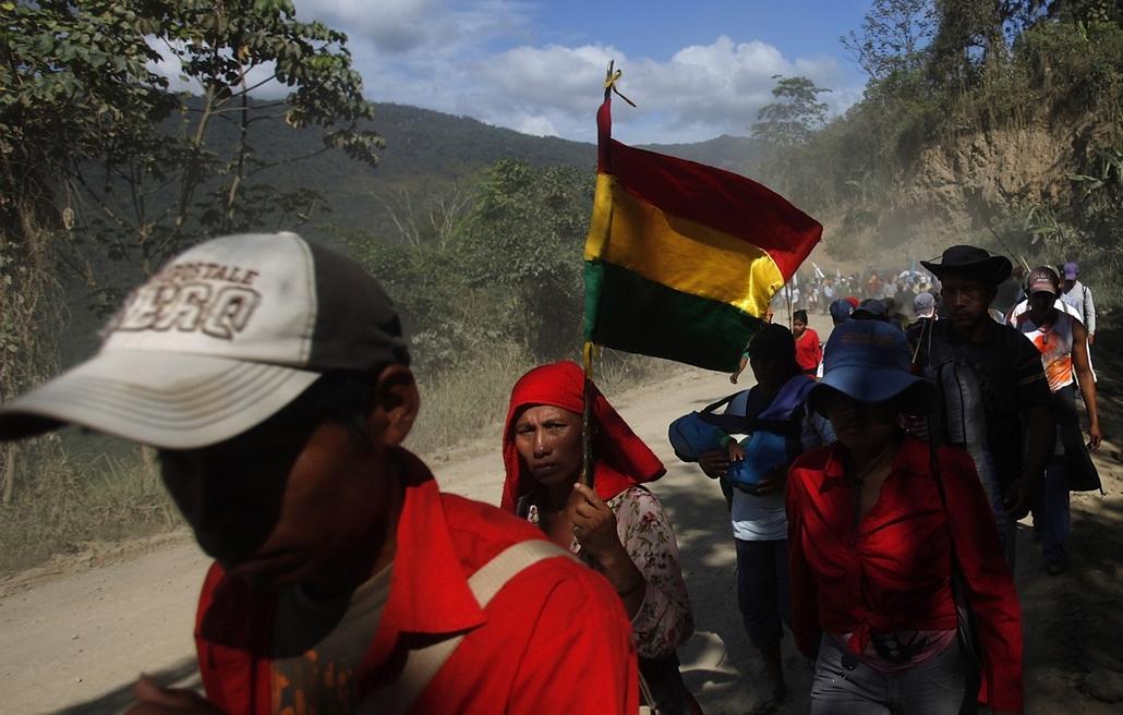 Bolívia Tipnis indiánjárás