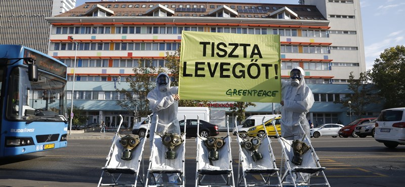 Greenpeace: kritikus mértékű a légszennyezettség több fővárosi kórház környékén
