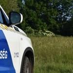 Négy rendőrautóval kísérték a szülő nőt