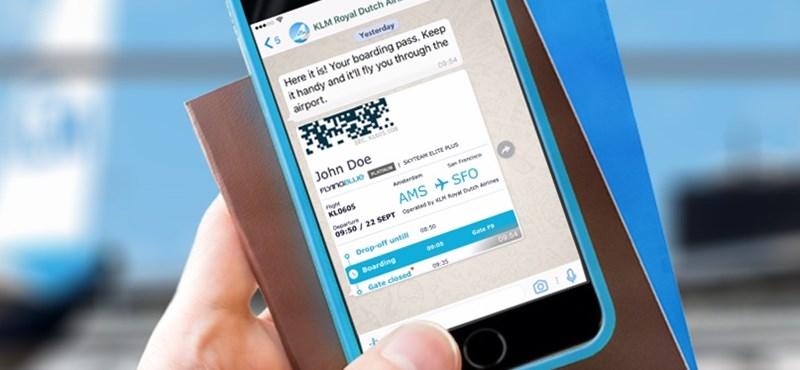 A WhatsAppot is használhatják a beszállókártyához a KLM utasai