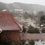 Hódara esett több településen, riasztás adtak ki – fotó, videó