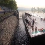 Ez jól állna a Dunának is: fürdőt építenek a Moldvára Prágában