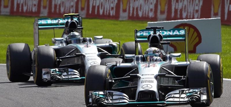 Szabad marad a csata Hamilton és Rosberg között