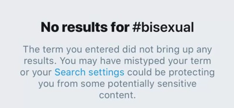 Elnézést kért a Twitter a biszex tartalmak blokkolásáért