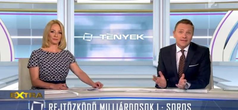 Marsi Anikóval ment neki Sorosnak a TV2 - videó