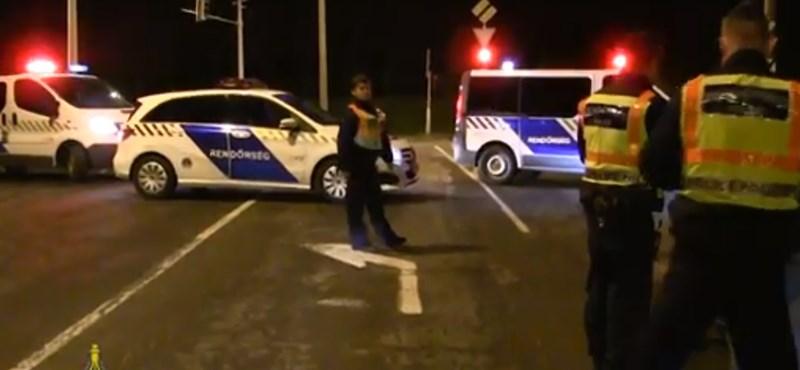 Lecsaptak éjjel a rendőrök az illegális gyorsulási versenyekre - akciófilmszerű videó