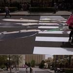 Street art percek: egy Charlie Brown illúzió
