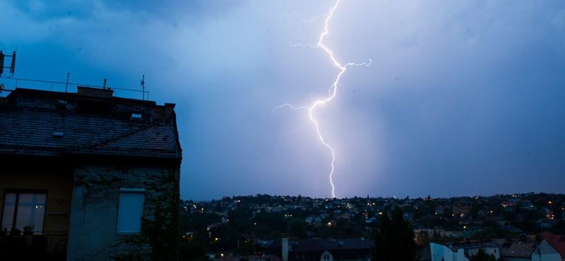 Leszakadt az ég Budapesten is