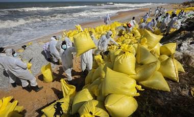 Szatyorműanyag fojtja meg az élővilágot Srí Lanka érintetlen homokos partjain