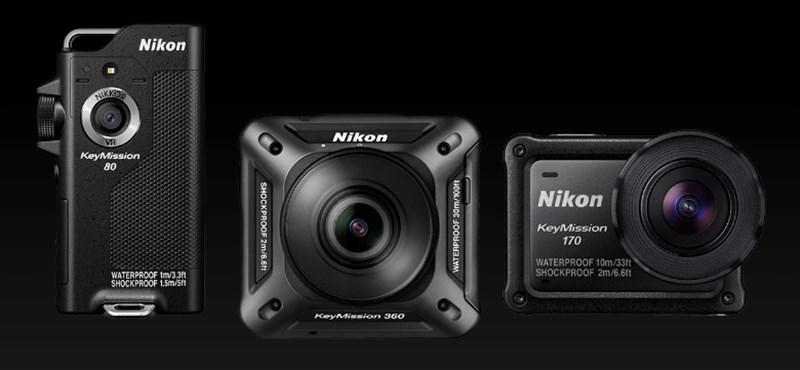Unja már a GoPrót? Három új akciókamerát is villantott a Nikon