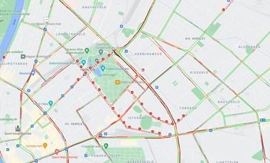 Már kora délután bedugult a budapesti belváros – ne most induljon arra autóval