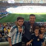 Fotó: David Beckham három fiával nézte a vb-döntőt