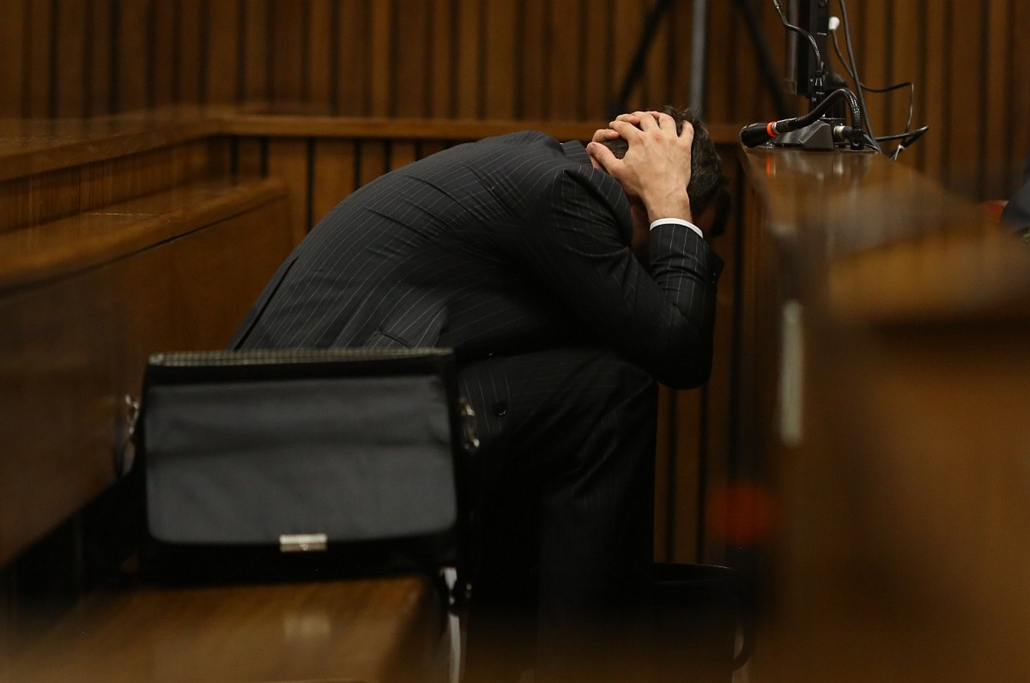 afp.14.03.10. - Pretoria, Dél-afrikai Köztársaság:  Oscar Pistorius meghallgatása - hatodik nap - 7képei