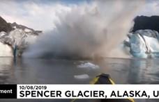 Jóformán rájuk zuhant a gleccser, de túlélték