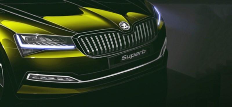 Hivatalos: jövő héten jön a hibridként is támadó új Skoda Superb