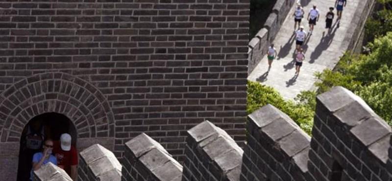 Így még biztosan nem látta a kínai nagy falat - videó