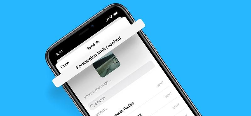 Szigorú korlátozás kerül a Messengerbe, kevesebb embernek továbbíthat üzeneteket