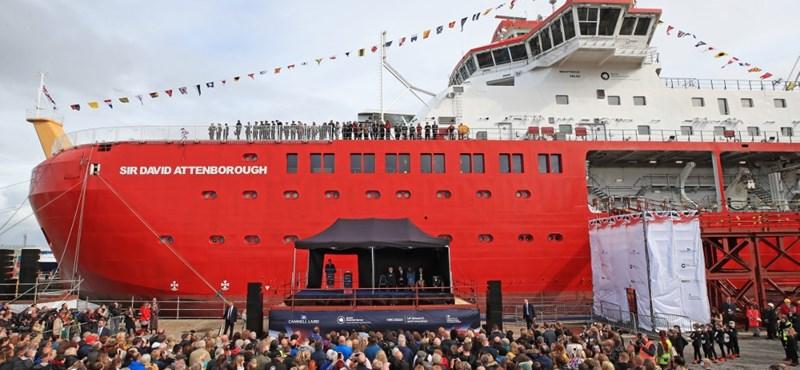 David Attenboroughról neveztek el egy hatalmas sarkkutató hajót