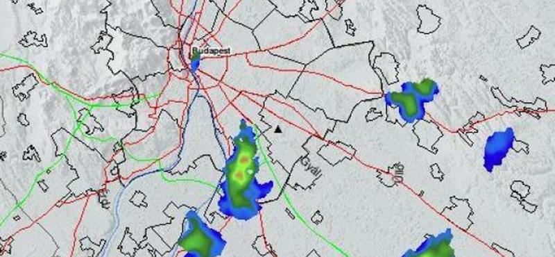 Radarképeken is látszott az Andrássy úti óriási tűz – térképek