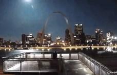 Hatalmasat villant egy meteor az amerikai égbolton, és pont felvették