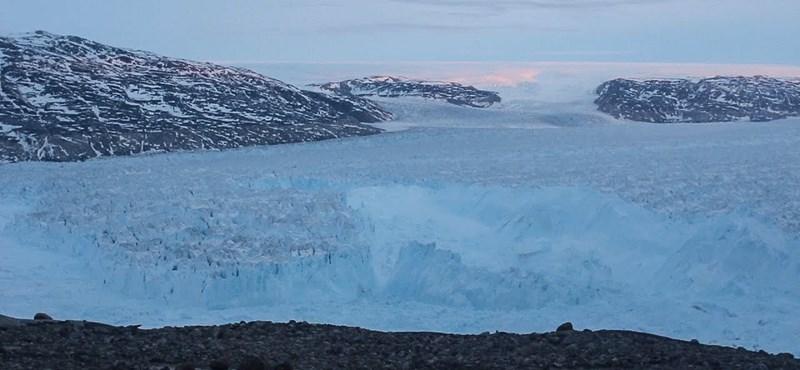 Drámai videó jött Grönlandról: így emelkedik a tengerszint 30 perc alatt