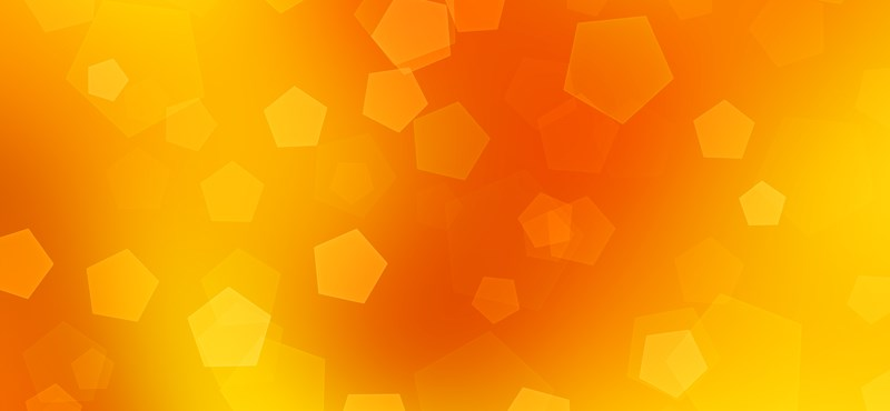 Mai háttérkép: Orange Pentagon Bokeh