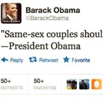 Obama a melegházasságról - 50 000 retweet