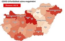 Nyilvános a térkép arról, hol hány igazolt koronavírusos van